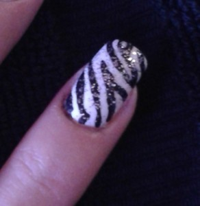 sparkly zebra stripe