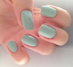 gel polish mint green