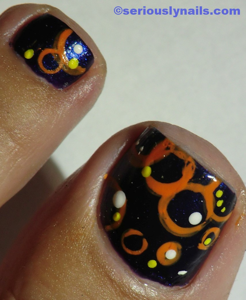 HAPPY HALLOWEEN!!!! Purple and Orange | Seriously Nails