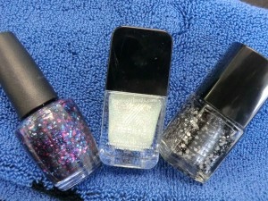 Lovely sparkly glittery polishes