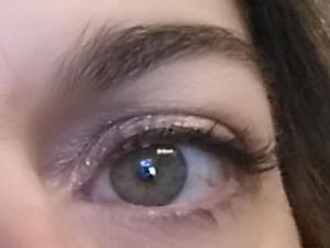 Right side Eyelashes before any  mascara.