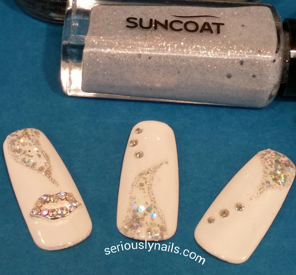 Using the Suncoat stripping brush from their Nail Art Kit