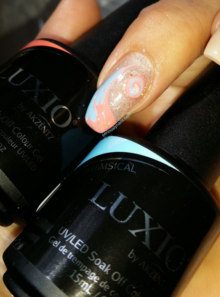 Swirling Sand And Ocean Using Luxio From Akzentz Soak Off Gel Colors