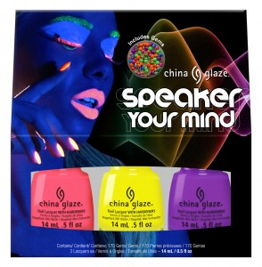 Speaker your Mind includes nail charms!