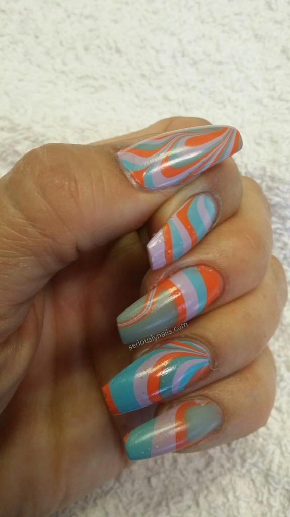Inifinite Shine Water Marble by Seriously Nails