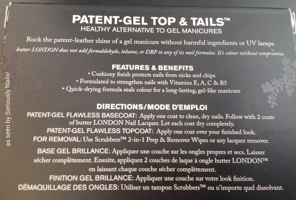 Features and Benefits of Patent-Gel tops & Tails