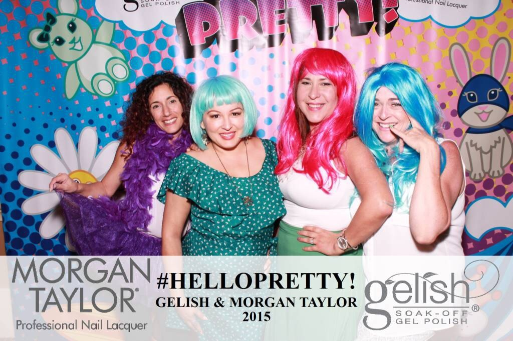 Tara, Adela, Lourdes and myself at the Morgan Taylor/Gellish photo booth!