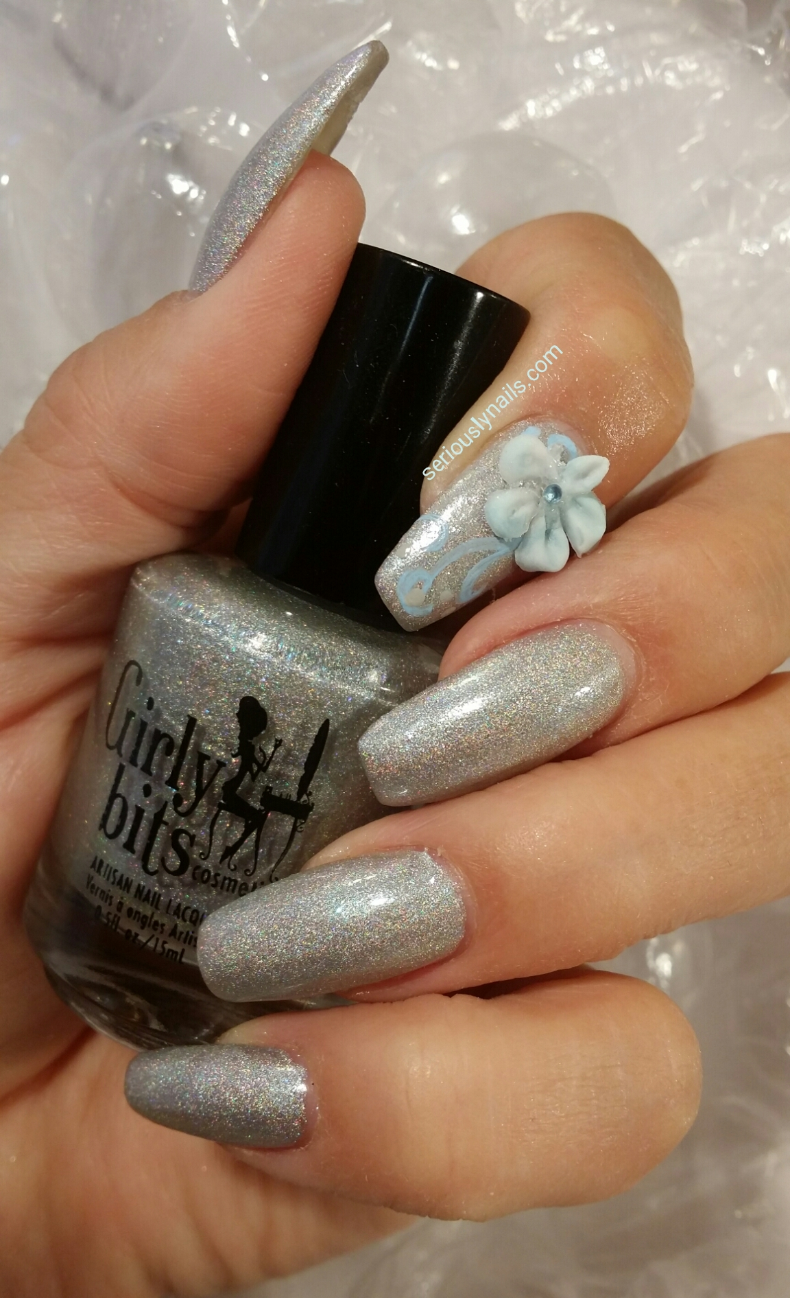 Light Blue Acrylic Nails Winter