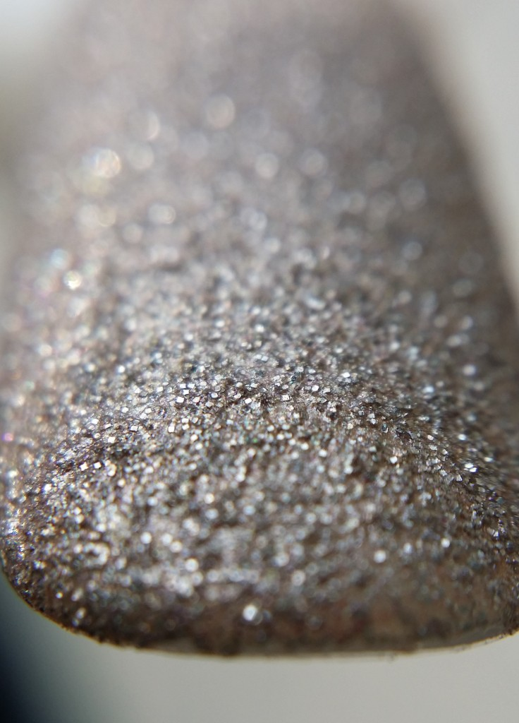 Just the glitter polish-no top coat
