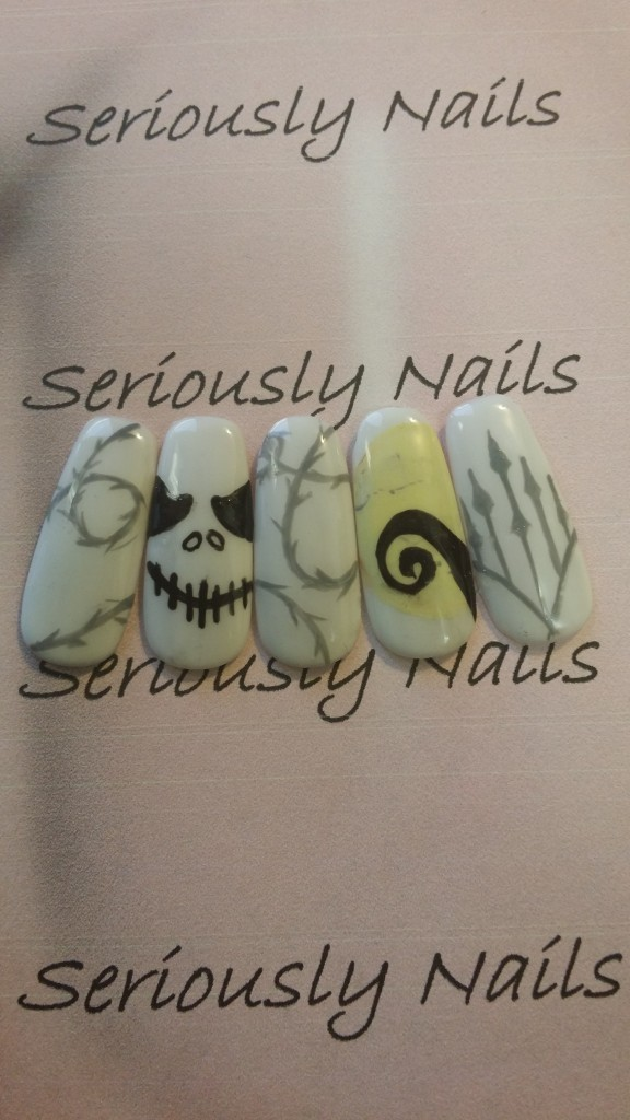 My own Jack Skellington nail art!