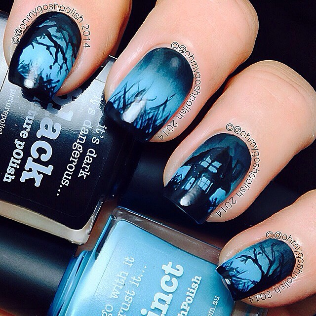 Oh My Gosh Polish 2014 uses non Halloween colors!