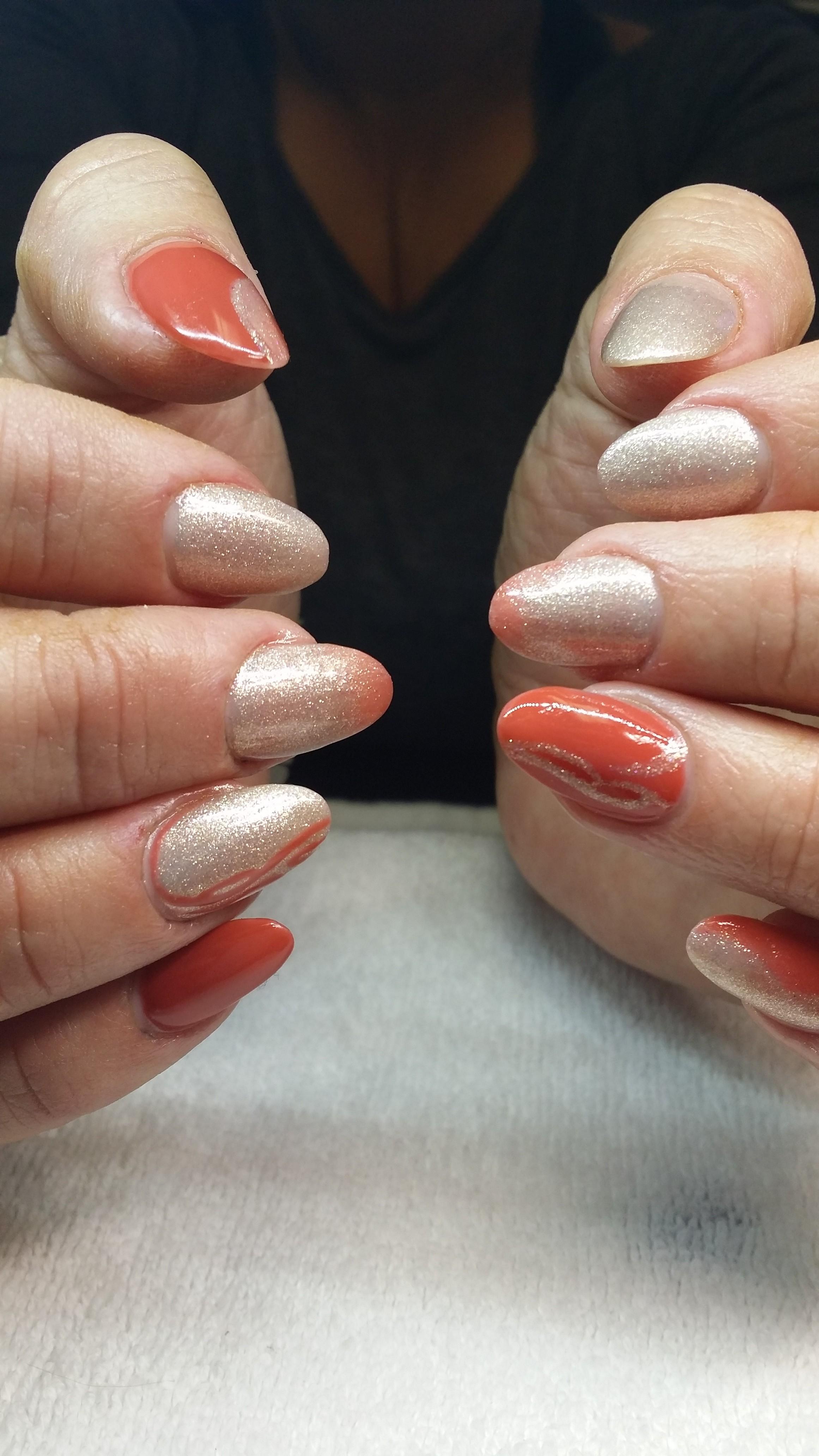 fall color nail art
